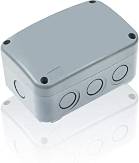 Nineleaf ABS Plastic Dustproof Waterproof IP66 Junction Box Outdoor External Universal Electrical Project Enclosure Grey 125x86x62mm (4 7/8