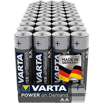 Batterie VARTA Power on Demand AA Mignon (pacco scorta da 40 in confezione - smart, flessibili e potenti - peres. per accessori PC, dispositivi di domotica o torce)