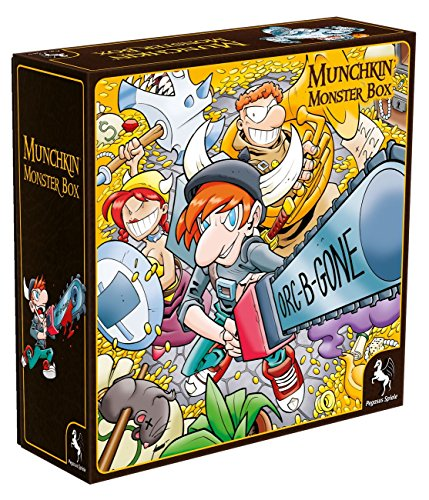 Pegasus Spiele 17027G - Munchkin Monsterbox Cover 1, Huang-Edition