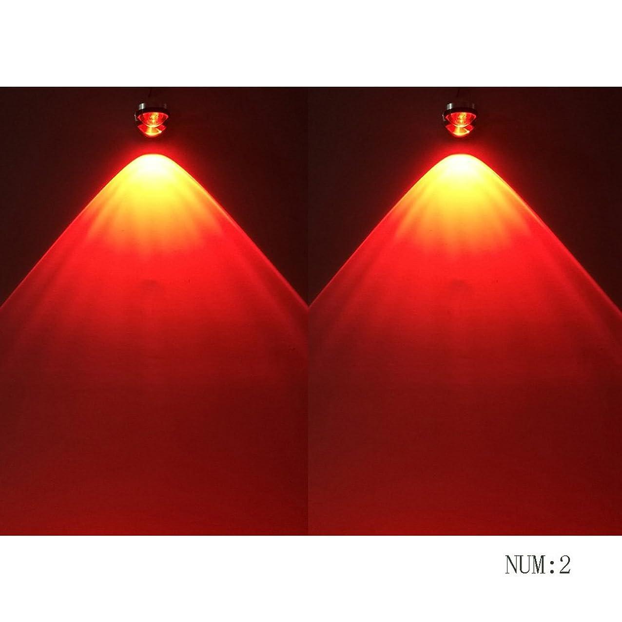 失効引き付ける鋭くラオハオ 360°回転可能な3W LEDミニステンレススチールウォールランプクリエイティブマルチカラースポットライトバーKTVの背景レストランの雰囲気7色オプションの壁取り付け用燭台、2 /リビングルーム寝室廊下用のパッケージ ウォールウォッシャー (Color : Red)