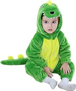 Kirmoo Unisex Baby Flannel Romper Animal Onesie Costume Hooded Cartoon Outfit Suit