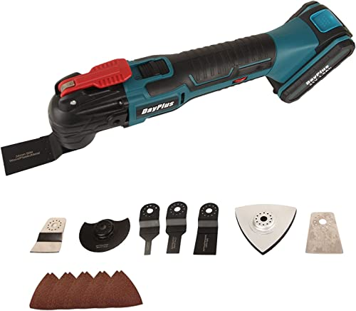 high quality Cordless 2021 Oscillating Tool Multi Power Tool Kit lowest with 4 Degree Oscillation Angle, 6 Variable Speed, 22pcs Saw Blade Accessories, Portable Power Tool for Home DIY Project outlet sale