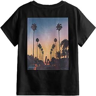 SOLY HUX Boy's Graphic Print Short Sleeve T Shirt Summer Tee Top