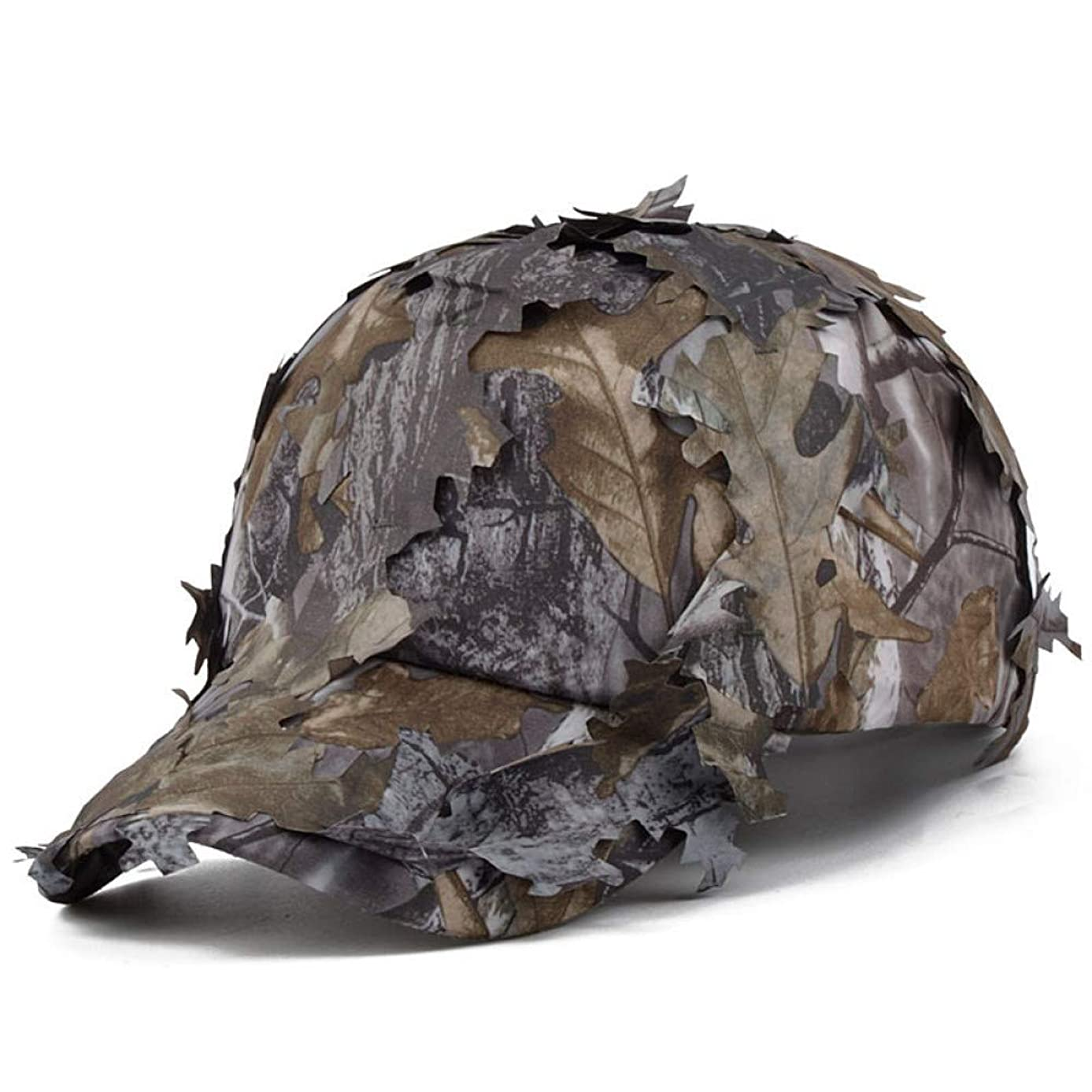 MKJNBH Tactical Real Tree Hunting Leaf Sneaky Camouflage Hat Men Leaves Baseball Cap Sniper Archery