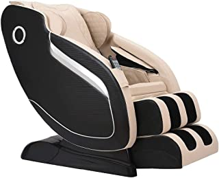SL Track Massage Chair with 3D Rollers Robot Hands, Space Saver, Body Scan, Bluetooth, Beige