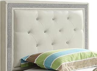 William's Home Furnishing 89857 Breen Headboard, Queen Size, White
