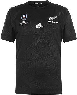 adidas(アディダス) オールブラックス ラグビーニュージーランド代表 ホームジャージー ラグビーワールド杯 2019 All Blacks Rugby New Zealand National Team Home Jersey RWC 2019 [並行輸入品]