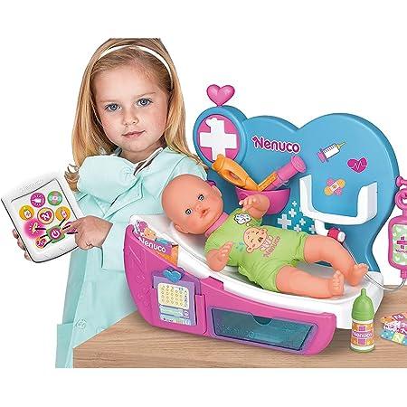 Nenuco - Doctora Por Qué Llora, cura como un doctor a tu muñeco bebé con los accesorios del médico en su centro de cuidados, tiene un traductor de lloros para dar de comer y dormir. FAMOSA (700012646)