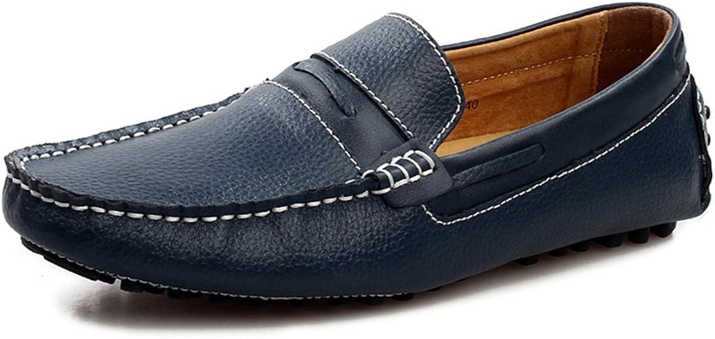Slip -Ons for Casual Office, karriärs karriärs karriärs svart, gul, Dark blå, Mans skor läder sommar Mocasin Loafers  hög rabatt