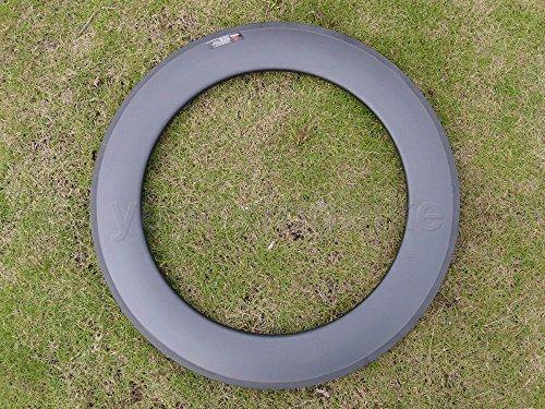 Toray Carbon cerchioni carbonio 3K lucido cerchi tubolare bici da strada 88mm Basalto Freno laterale Larghezza 25mm/fori: 24, 24