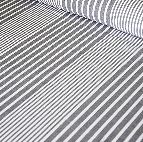 Bowley & Jackson Oilcloth table fabric French Montpellier grey stripe