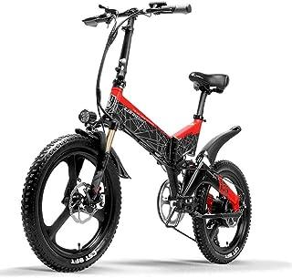 G650折り畳みアシスト自転車 フルサスペンション マウンテンバイク 20インチ 7段速 500w 48v