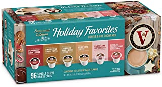 Holiday Favorites Variety Pack for K-Cup Keurig 2.0 Brewers, 96 Count Victor Allen's Coffee Medium Roast Single Serve Coffee Pods