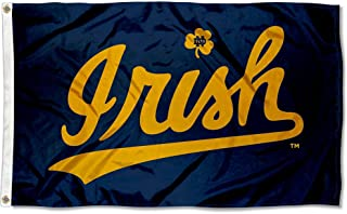 College Flags and Banners Co. Notre Dame Fighting Irish Cursive Irish Flag