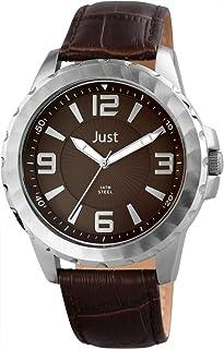 Just Watches Montre Bracelet Homme, Cuir, Couleur: Marron