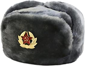 Hat Russian Soviet Army Air force Fur Military Ushanka GR Size L