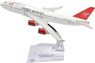飛行機モデル模型飛行機、B747-400ヴァージンアトランティック飛行機愛好家、1:400 16cm飛行機モデル、金属飛行機モデル、Commem用(装飾玩具ギフト)