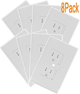 Self Closing Electrical Outlet Covers, Child Proof Safety Universal Wall Socket Plugs, Automatic Sliding Cap Cover Standard Wall Outlet Plate (8 Pack)