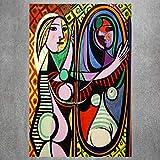 巴勃罗,毕加索,上,画布,高清,版画,抽象,墙,艺术,女人,油,画,复古,海报,现代,客厅,房间,卧室,图片,装饰,40x60cm,无框