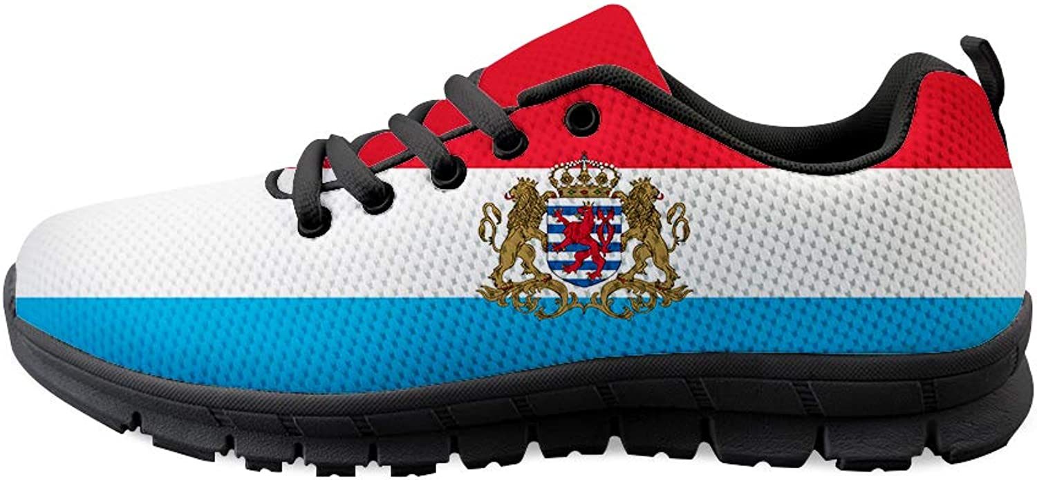 Owaheson Lace-up Sneaker Training shoes Mens Womens Luxembourg Flag National Emblem