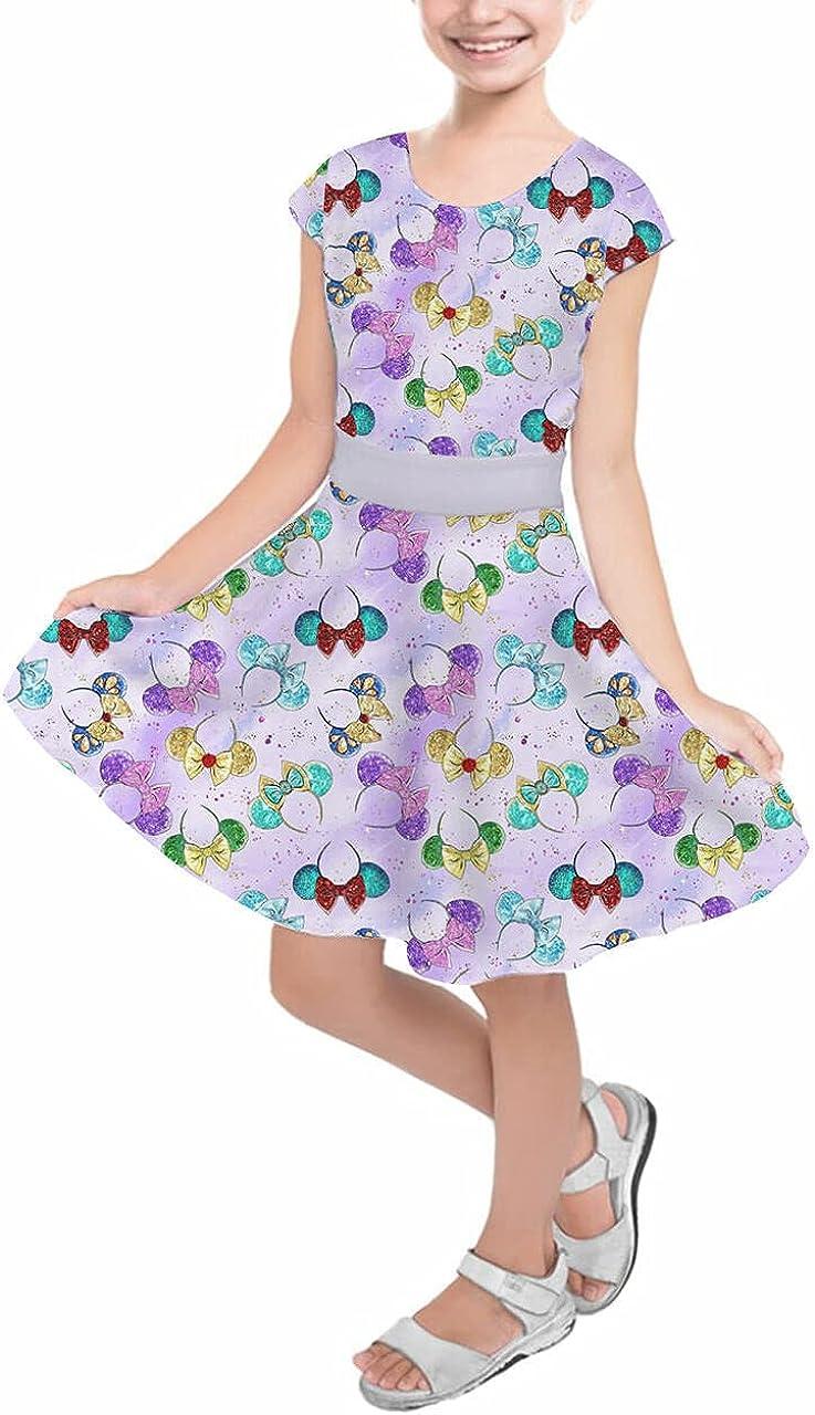 Girls Short Sleeve service Skater Dress - Princess Minnie Low price Ears