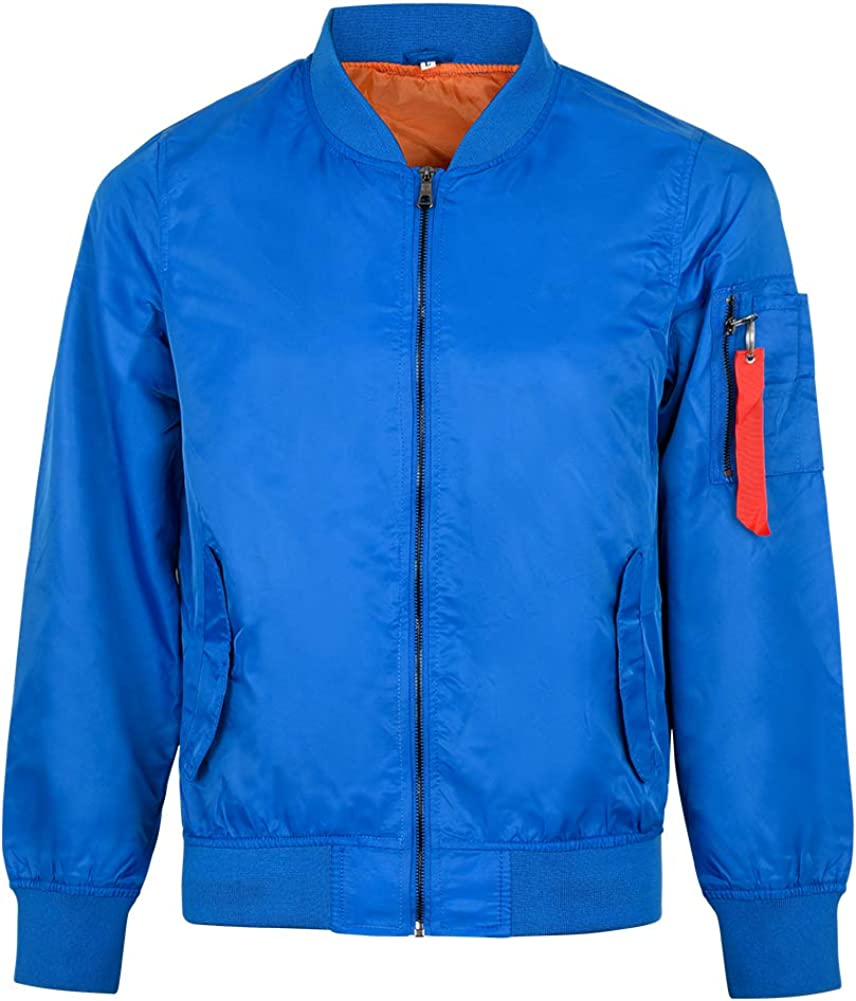 MADHERO Mens Bomber Jacket Lightweight Slim Fit Casual Fall Jackets
