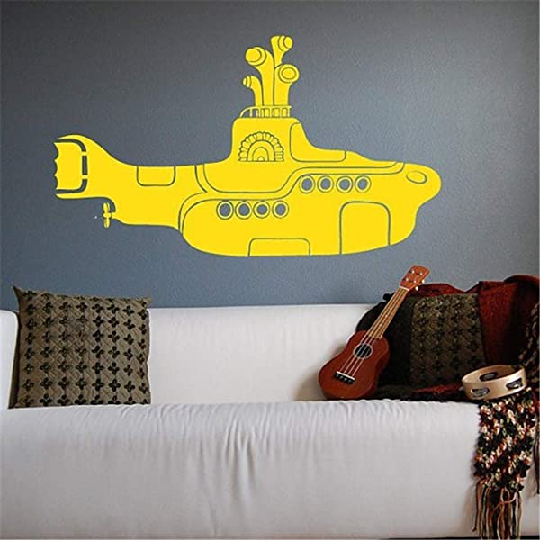 Bluegiants Vinyl Wall Decals Quotes Sayings Words Art Deco Lettering Inspirational Yellow Submarine For Nursery Kids Room