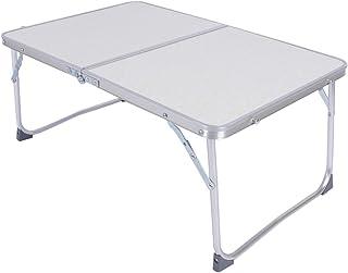 Ejoyous Laptop sängbord, aluminium fällbart bord campingbord bärbart sengångare bärbara bord frukostbord, för säng och sof...