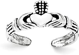 Lex & Lu Sterling Silver Claddagh Toe Ring