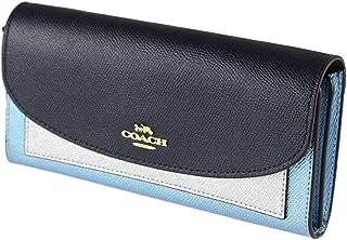Coach Women's Metallic Color Block Leather Slim Envelope Wallet in Midnight Multi, Style F55646