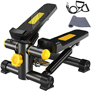 comprar comparacion Vinteky Stepper 2 en 1 Cuerdas de Resistencia - Escaladora Stepper para Usuarios Principiantes y Avanzados con Pantalla Mu...