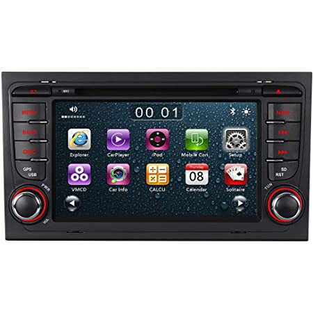 Radical R C10ad2 Mit 7 Touchscreen Infotainment Autoradio Passend Für Audi A4 Android 7 1 Os Vorbereitet Für Navigation Fm Radio Bluetooth Usb Easyconnect Lenkradfernbedienung Navigation