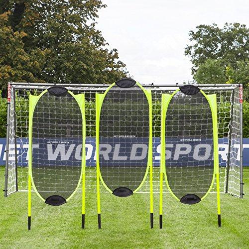 FORZA Sprunghafte Fußball Freistoß Dummies (3er-Set) - 1,5m Pop-Up Fussball Mauer - Trainingshilfen Fussball