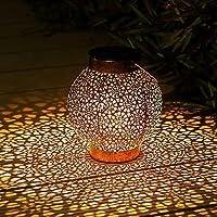 Lanterne Solaire Exterieur, Othran Marocaine Métal LED Lampe Lanterne Exterieur, IP44 étanche, Lampe Solaire Extérieur...