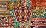 Vilber Bohemian Nomad Alfombra, Vinilo, Multicolor, 75x120x0.2cm