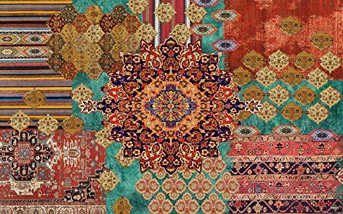 Vilber, Bohemian Nomad, Tappeto, Multicolore (Verde/Marrone/Beige), 75 x 120 x 0.2 cm