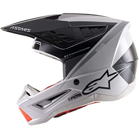 Alpinestars SM5 Rayon Helmet-Light Gray/Black/Silver-L