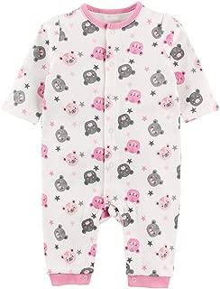 Baby Nest ベビー服 女の子 長袖カバーオール 新生児服 赤ちゃん 長袖ロンパース 秋冬 コットン クマ 6-9M