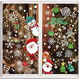10 Hojas de Pegatinas Ventana Navidad Santa Muñeco de Nieve Alce de la Puerta Pegatinas Navidad Cristal Decoración Reutilizable Bricolaje Pegatinas Electrostáticas Calcomanías ventanas para Fiesta