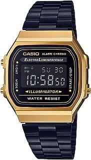 a60308fa9d2 Relógio Casio Unissex Vintage A168WEGB-1BDF - Dourado Preto