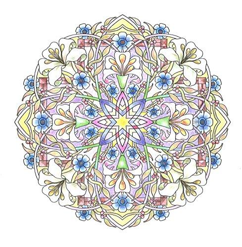 『flower mandalas 心を整える、花々のマンダラぬりえ』の6枚目の画像