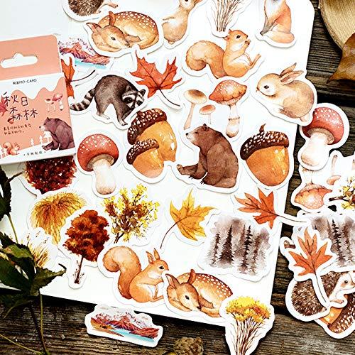 46 stks Diverse Herfst Thema Stickers voor Crafts kaarten maken Scrapbooking