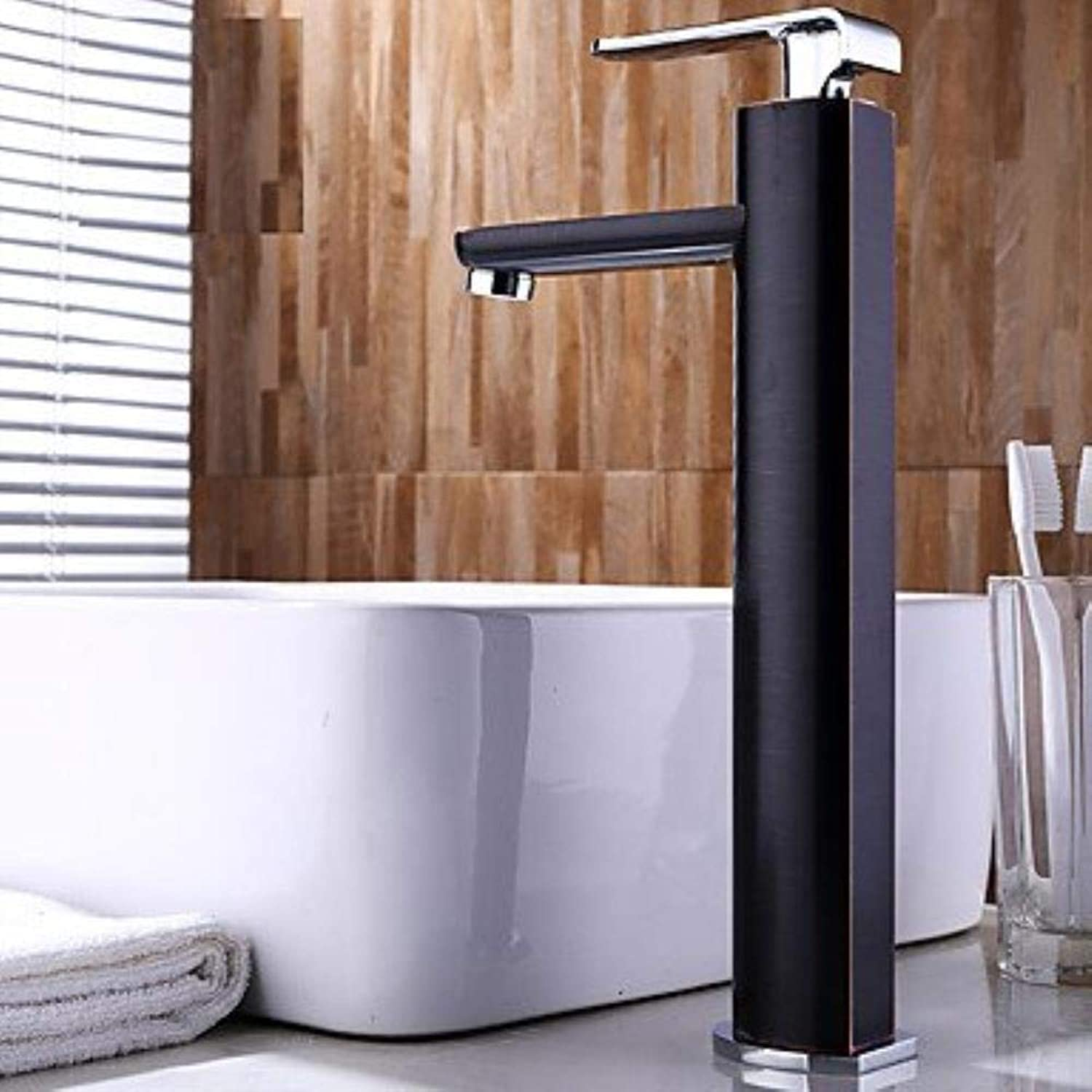Art Deco Retro Centerset Widespread withCeramic Valve Single Handle One Hole forOil-Rubbed Bronze, Bathroom Sink Faucet