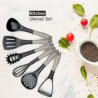 Kitchen Set, 7 Piece Cooking Utensils & Grater Shredder Hanger Holder, Nonstick, Household Items