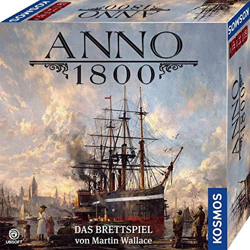 KOSMOS 680428 Anno 1800, Das Brettspiel zum beliebten PC-Spiel, Strategie-Spiel für 2-4 Spieler, ab 12 Jahre