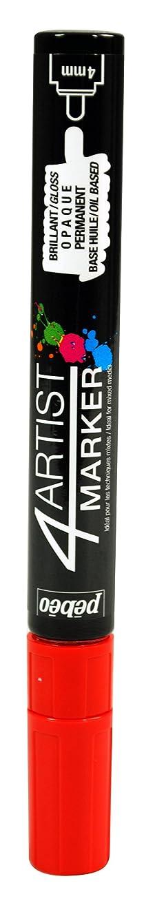 Pebeo 4Artist Marker, Oil Paint Marker, 4 mm - Red