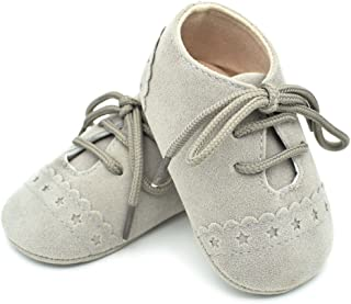 Lurryly Baby Boys Girls Sneaker Anti-slip Soft Sole Lace Up Toddler Shoes 0-18 M