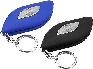 Universal Car Windshield Repair Restorer Kit Rubber Strip Wiper Blade Fine/Rough Blades with Key Chain Blue/Black : Black