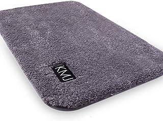 KMJ バスマット お風呂マット 速乾 サラサラ シャギー カーペット モコモコ ふわふわ 丸洗い 耐久良い プレミアム (グレー, 50cmx80cm)