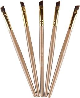 Bodhi2000 5pcs Professional Eyebrow Brush Black Flat Angled